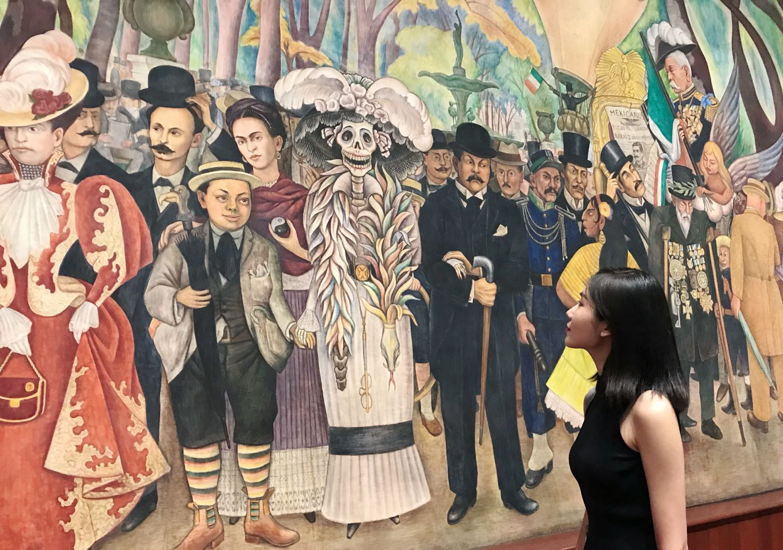 At the Museo Mural Diego Rivera (Photo courtesy of artist)